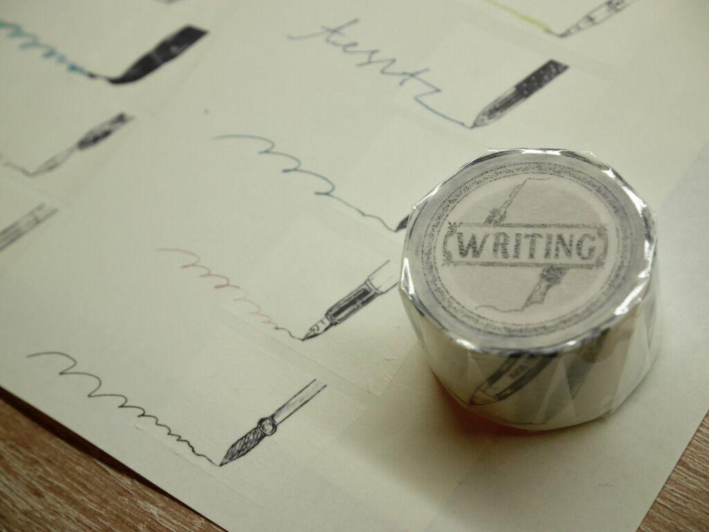 #自創商品 紳士企鵝&手寫筆尖紙膠帶