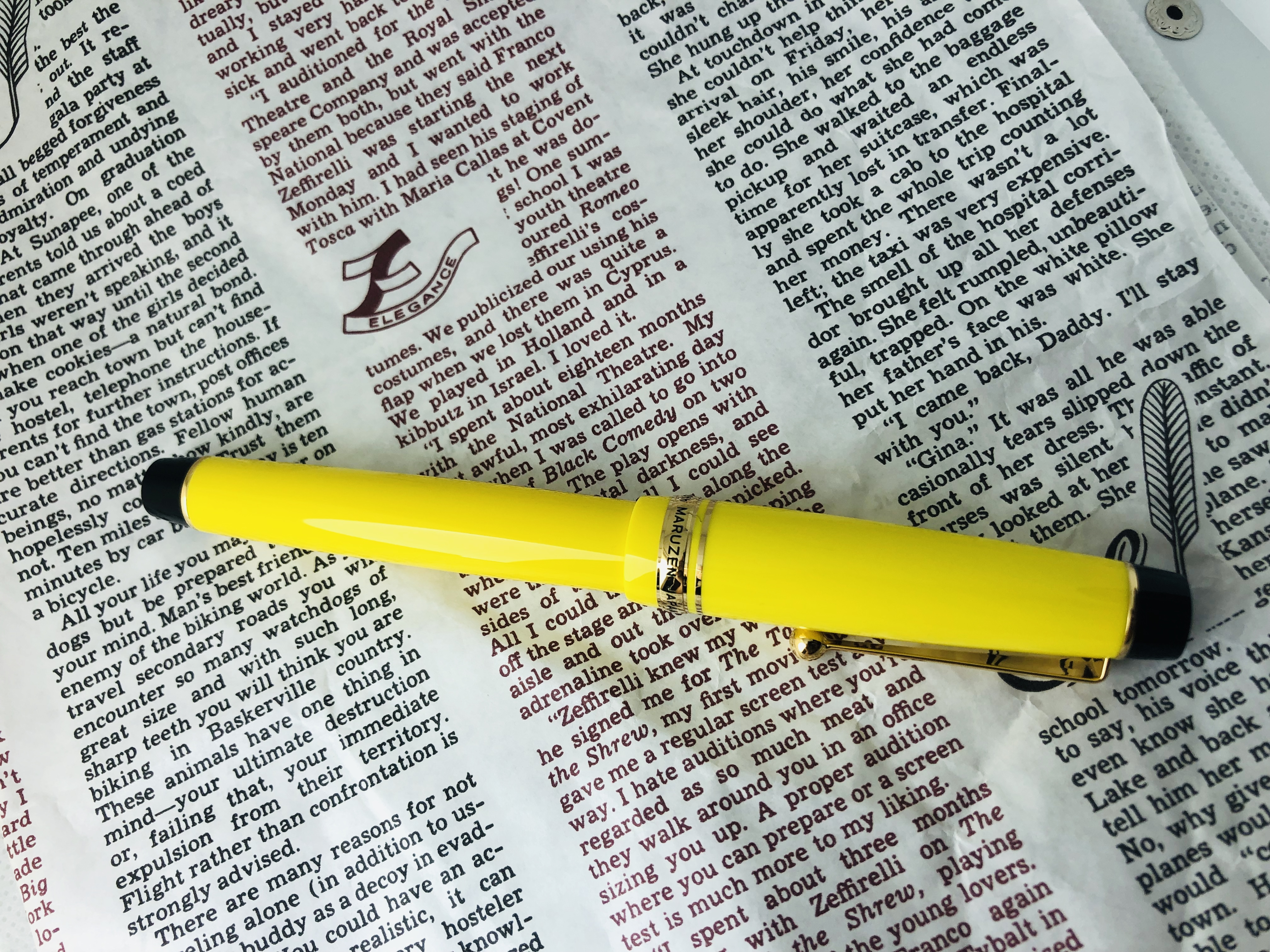 #鋼筆 丸善150周年紀念筆-檸檬